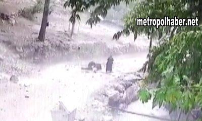 Gencin Başına Kaya Parçaları Böyle Düştü (Video)