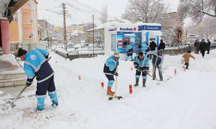 Kar Temizleme Çalışmaları Devam Ediyor