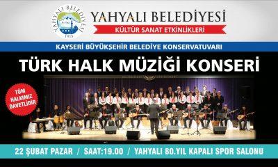 Türk Halk Müziği Konseri Ertelendi