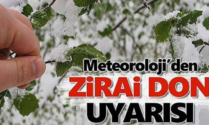 Meteoroloji'den Zirai Don Uyarısı