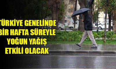 Türkiye Genelinde Yağış Etkili Olacak