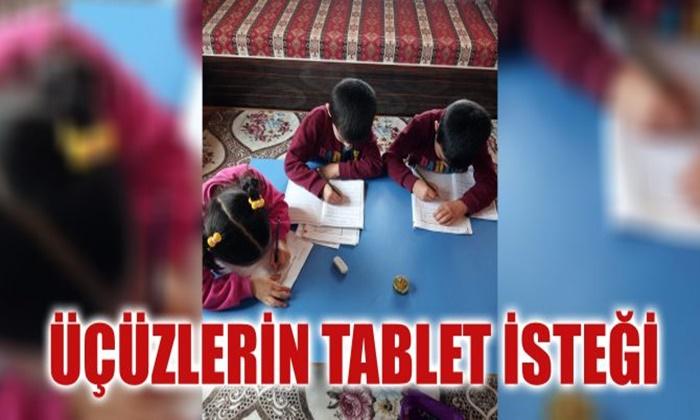 Üçüzlerin tablet isteği