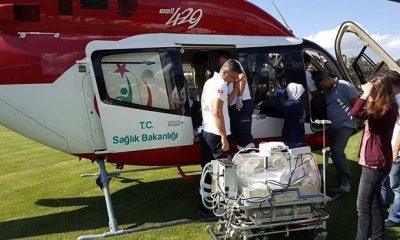 Yahşi Bebek, Helikopter Ambulansla Hayata Tutundu