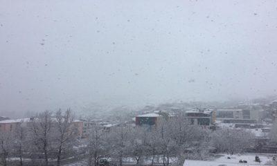 Yahyalı'da Etkili Kar Yağışı Başladı